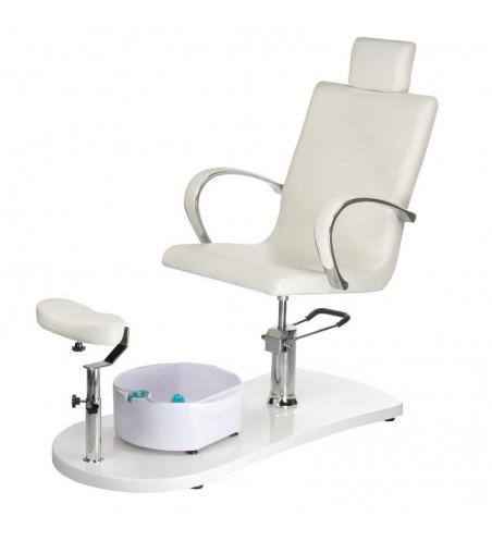 Fotel do pedicure z masażerem stóp BR-2308 Beżowy