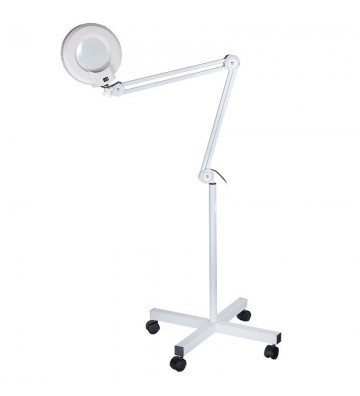 Lamp with magnifying glass...