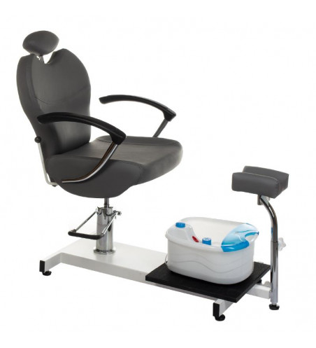 BR-2301 pedicure chair with foot massager grey
