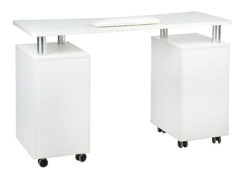 stolik do manicure na kółkach z szufladami