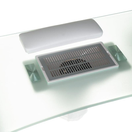 manicure table on wheels with dust absorber