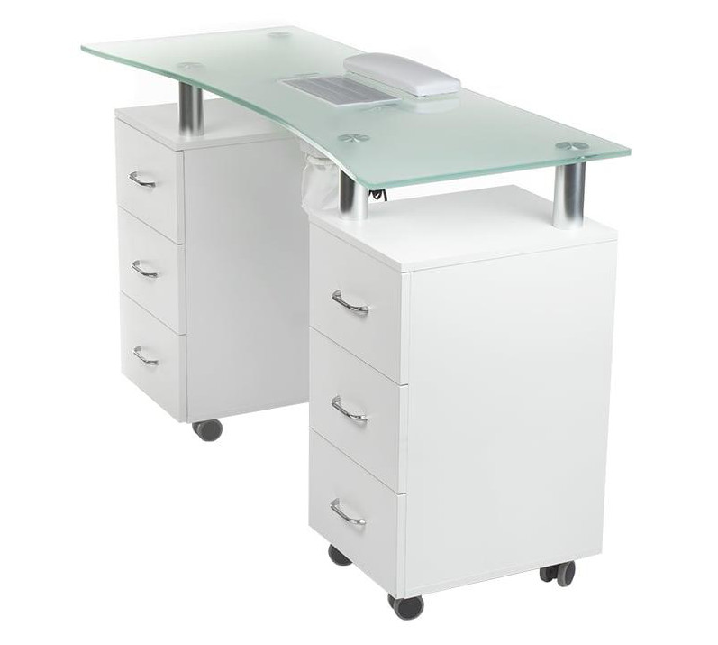 professional white manicure table